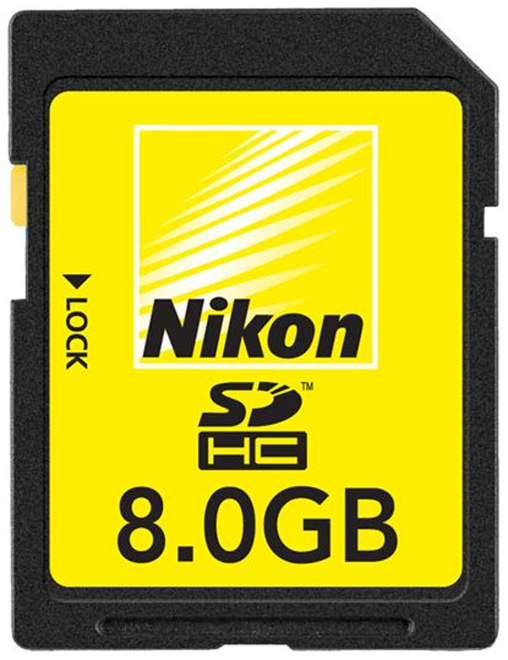 NIKON carte sd 8 gb.