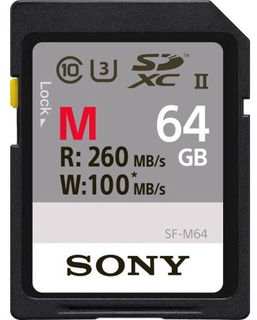 SONY SD CARTE PRO 64GB UHS-II R260 W100