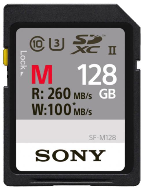 SONY SD CARTE PRO 128GB UHS-II R260 W100