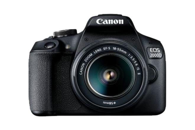 CANON EOS 2000 D noir + EF-S 18-55 IS II