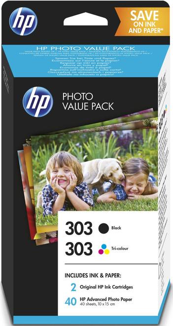 HEWLETT PACKARD pack cart + papier photo HP303.