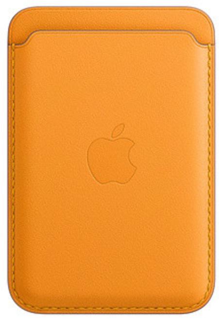 APPLE porte carte cuir magsafe orange p/ip12