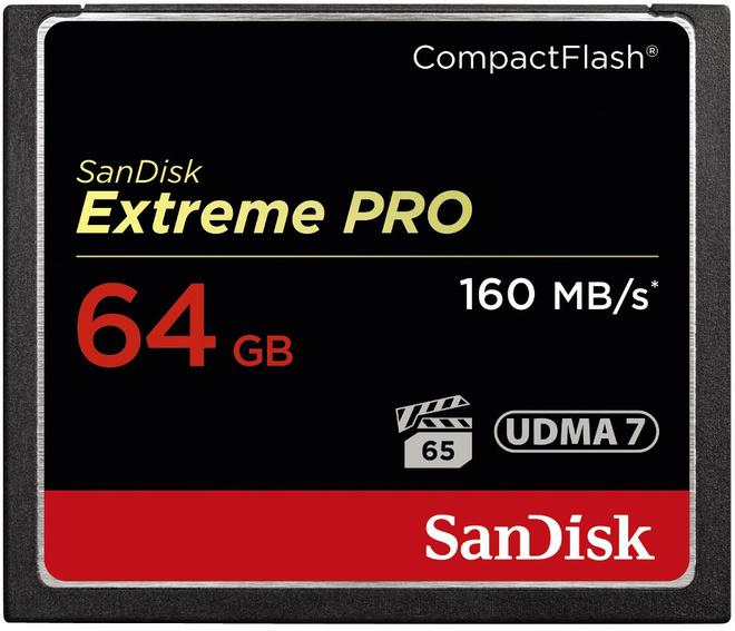 SANDISK cf 64gb extreme pro 160-150 mb/s udma7.