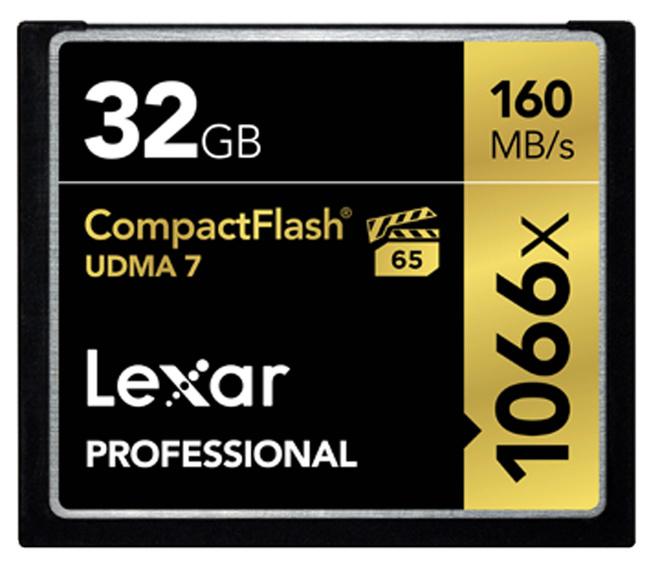 LEXAR Compact Flash 32GB 1066X Prof UDMA