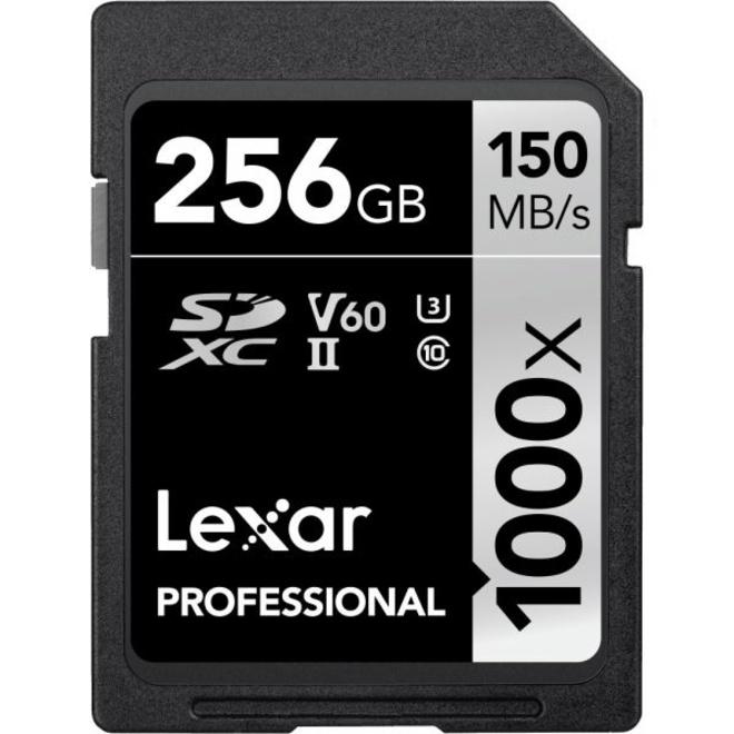 LEXAR SDXC 256GB 1000X PRO USHII U3 CL10 - V2