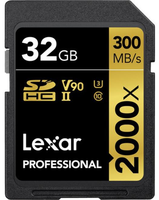LEXAR SDXC 32GB 2000X UHS-II PRO U3 CLASS 10