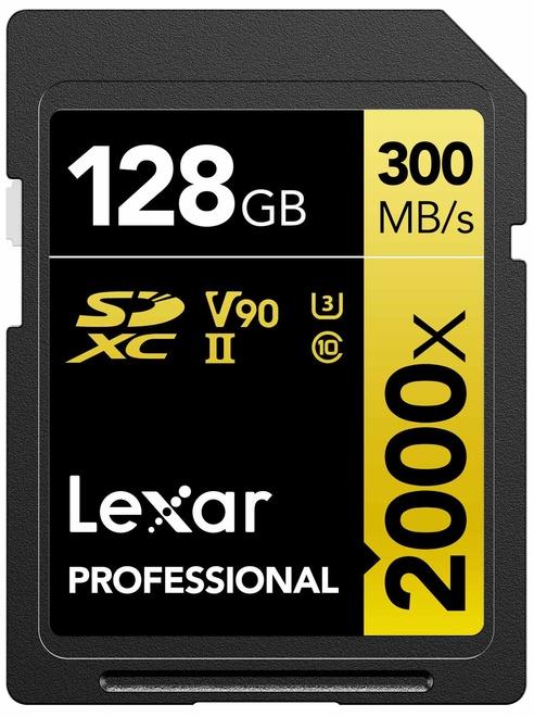 LEXAR SDXC 128GB 2000X PRO UHS-II U3 CLASS 10