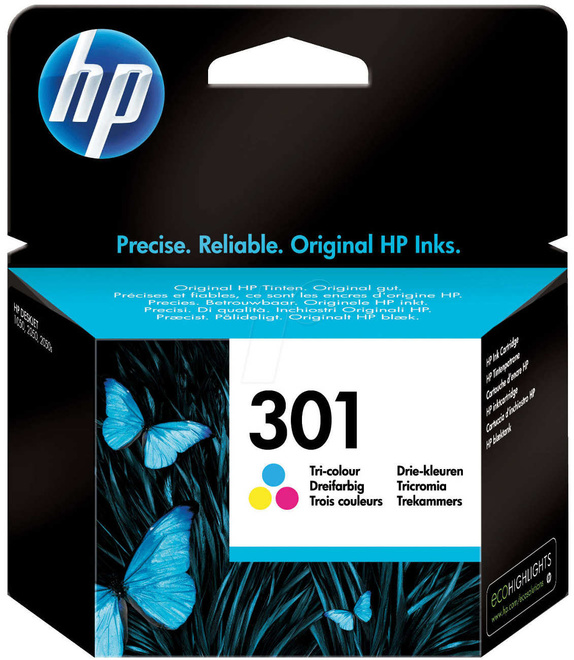 HEWLETT PACKARD cartouche coul hp 301 165 pages