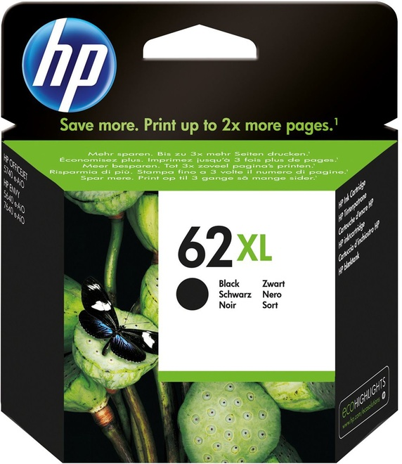 HEWLETT PACKARD HP 62XL black.