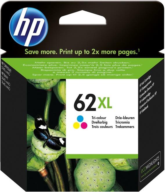 HEWLETT PACKARD HP 62XL PACK COULEUR