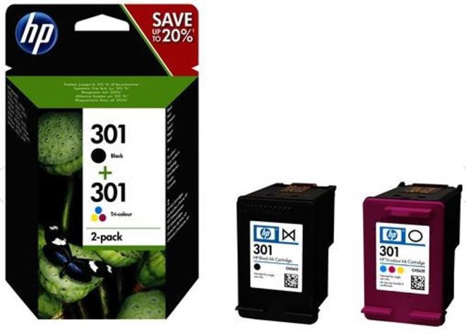 HEWLETT PACKARD pack de 2 cartouche noir/couleur hp301