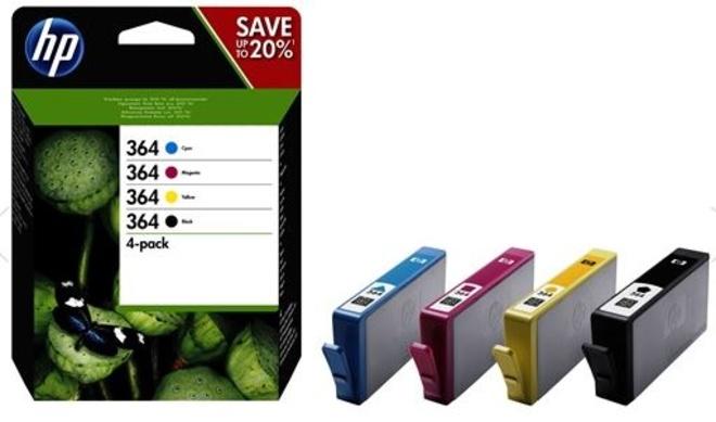 HEWLETT PACKARD pack de 4 cartouches noir/couleurs hp364