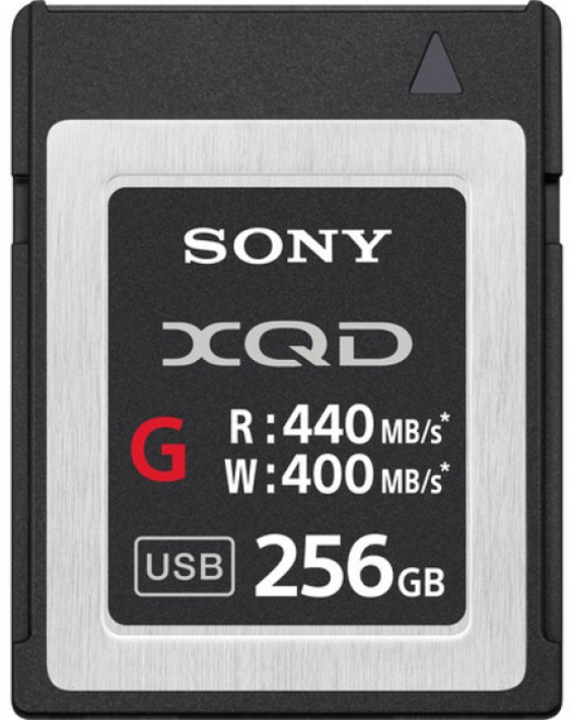 SONY XQD CARTE 256 GB - HIGH SPEED R440/W400.