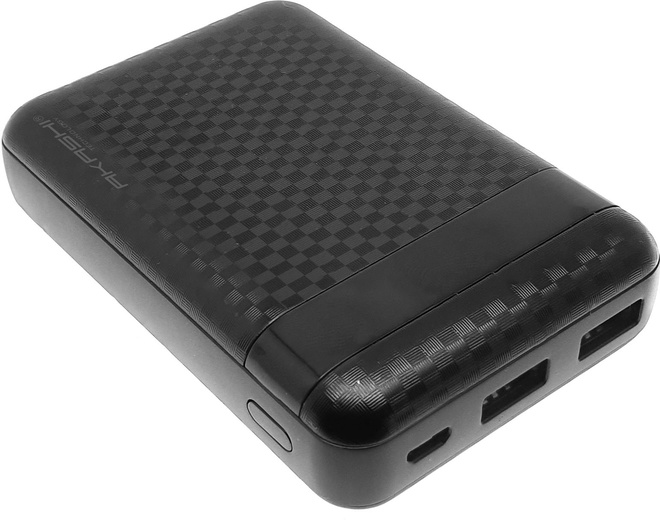 AKASHI POWERBANK 10000 MAH LED 2USB carbonne NR