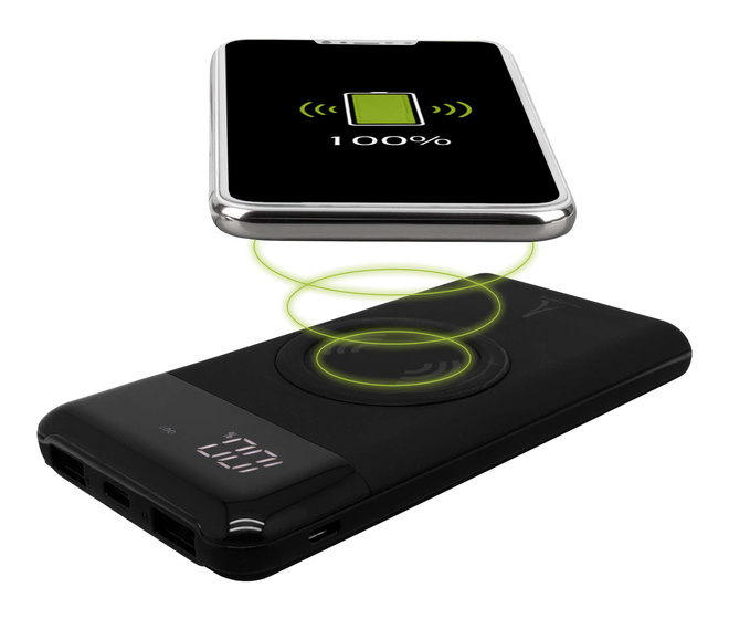 AKASHI POWERBANK 8000MAH INDUCTION+CABLE