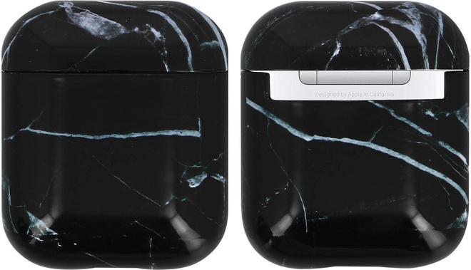 AKASHI coque antichoc marble noir p/airpod1/2