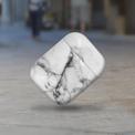 AKASHI coque antichoc marble blanc p/airpod1/2