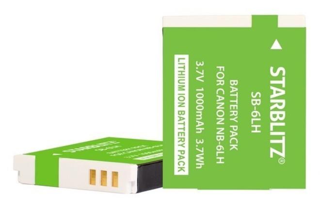 STARBLITZ Batterie compatible Canon NB-6LH