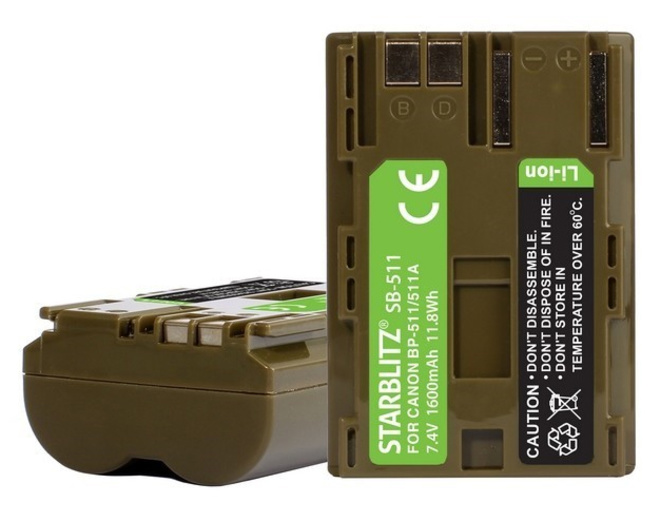 STARBLITZ Batterie compatible Canon BP-511A/511