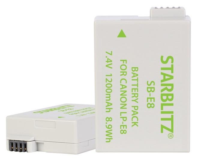 STARBLITZ Batterie compatible Canon LP-E8
