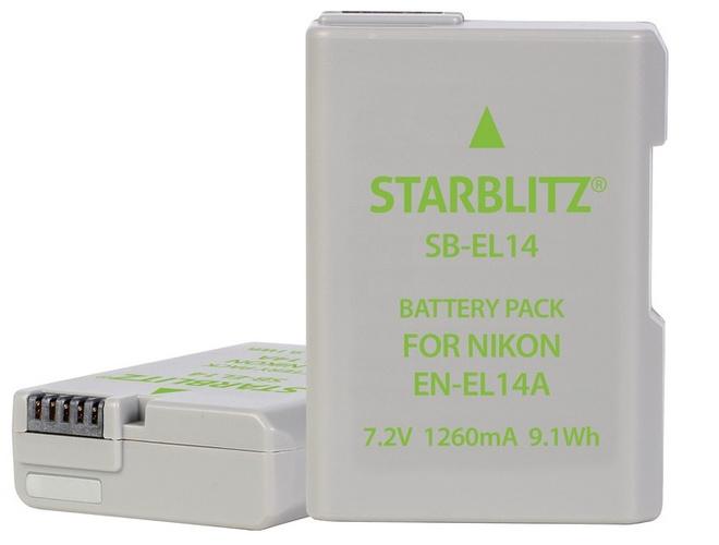 STARBLITZ BATTERIE COMPATIBLE NIKON EN-EL 14 +