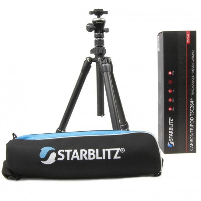 STARBLITZ Kit trepied carbone 4 sections