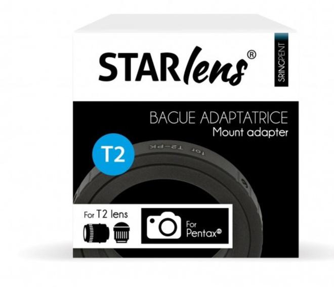 STARLENS BAGUE ADAPTATION PENTAX K POUR T2