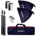 STARBLITZ STUDIO Kit eclair 2x60W+sac+pieds+boite lum