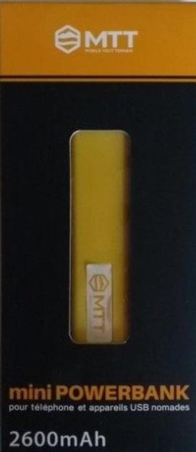 MTT mini powerbank 2600 mah jaune