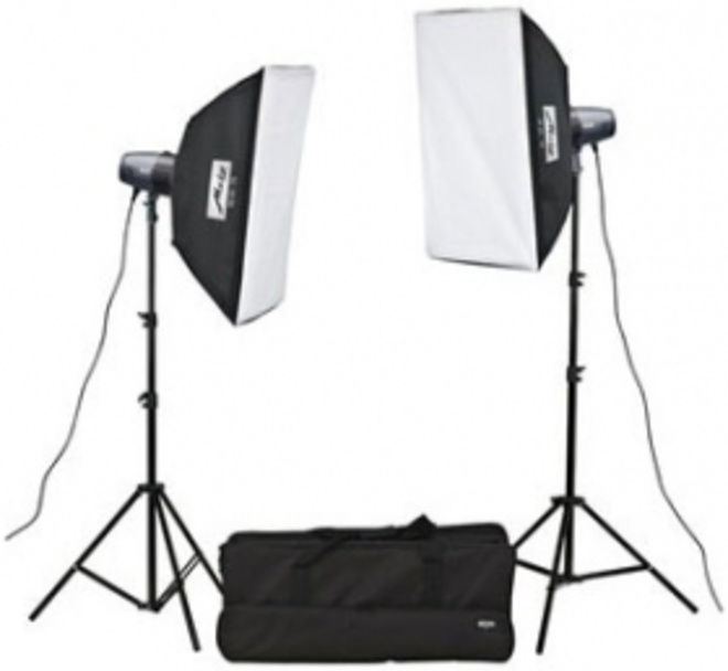 METZ Meca studio kit 2 flashs + 2 soft box