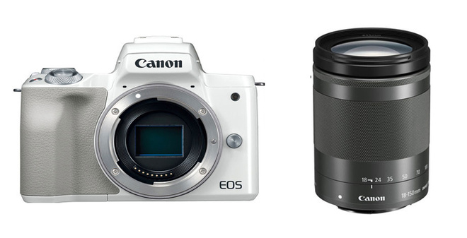 CANON EOS M50 BLANC + EF-M 18-150 IS STM