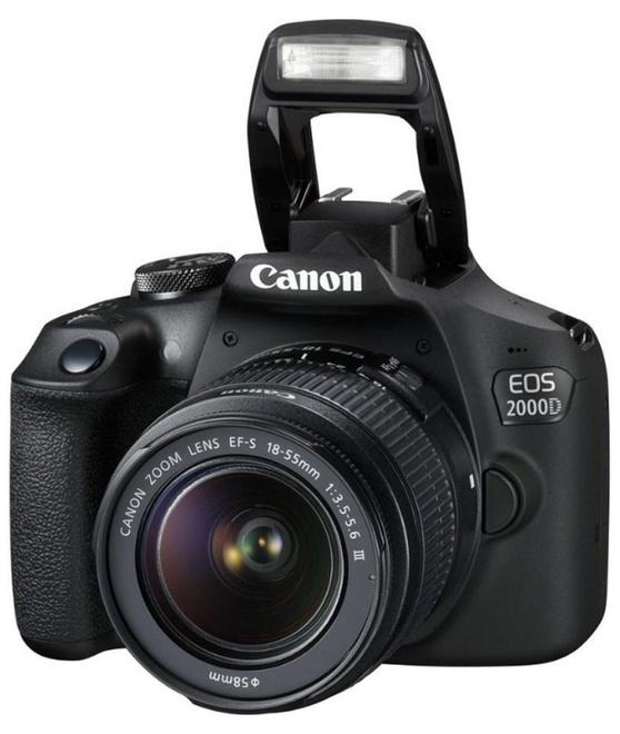 CANON EOS 2000 D noir + EF-S 18-55 DC III