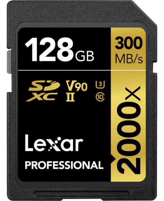 LEXAR SDXC 128 GB 2000x V2 Pro UHS-II