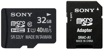 SONY micro sd 32gb perf r90 mb/s uhs-i.