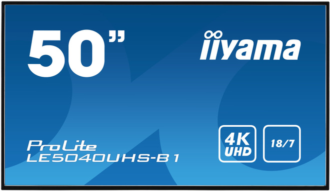 IIYAMA 50' 3840x2160 amva3 8ms.