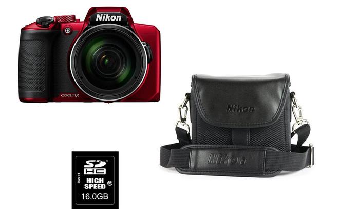 NIKON PROMO B600 ROUGE+ FOURRE TOUT+ SD16GO