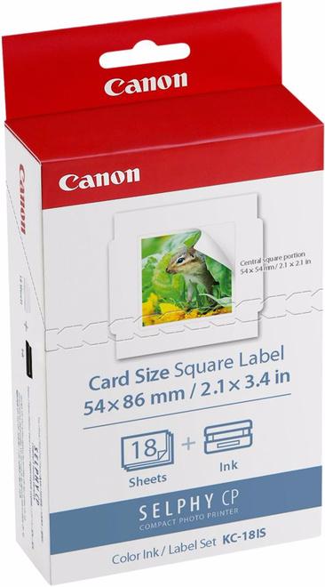CANON kit etiquettes kc-18is p/ imp selphy.