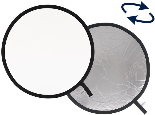 LASTOLITE Reflecteur pliant 75 cm Argent/Blanc.