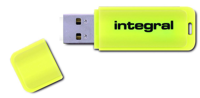 INTEGRAL cle usb 2.0 64 Go jaune.