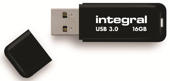 INTEGRAL cle usb 3.0.neon.noir.16go.
