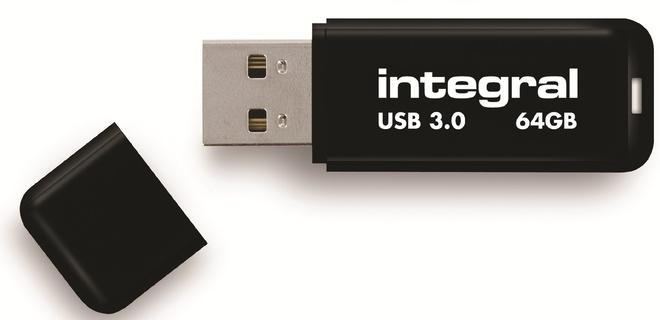 INTEGRAL cle usb 3.0.neon.noir.64go.