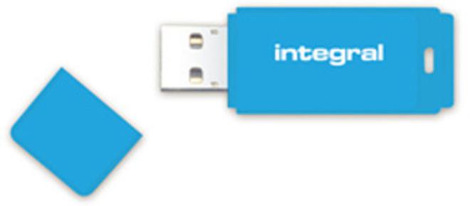 INTEGRAL cle usb 2.0 64 Go bleu.