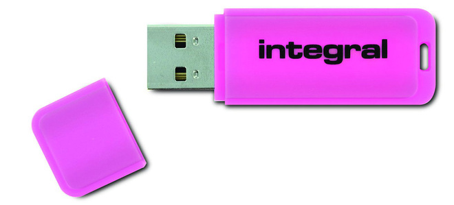 INTEGRAL cle usb 2.0 128 Go rose.