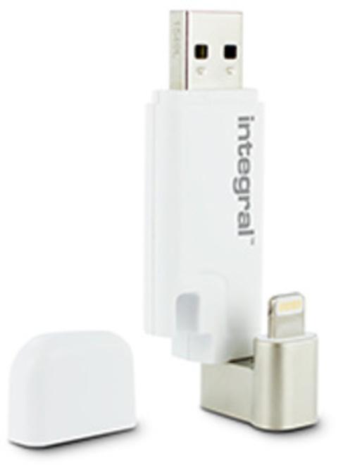 INTEGRAL cle usb 2 connecteur USB+lightning 16go.