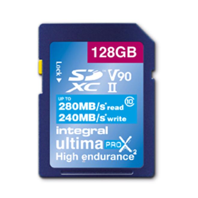 INTEGRAL SDXC 128GB V90 8K 280/240MB