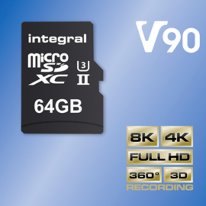 INTEGRAL MICROSDXC 64GB V90 8K 280/240MB