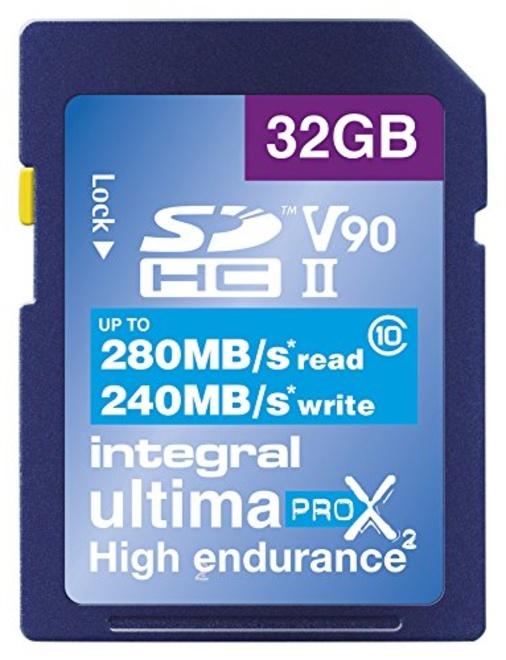 INTEGRAL SDHC 32GB V90 8K 280/240MB