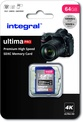 INTEGRAL SDXC 64GB V30 4K  100/90MB