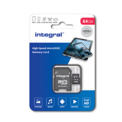 INTEGRAL MICROSDXC 64GB V10  FULL HD