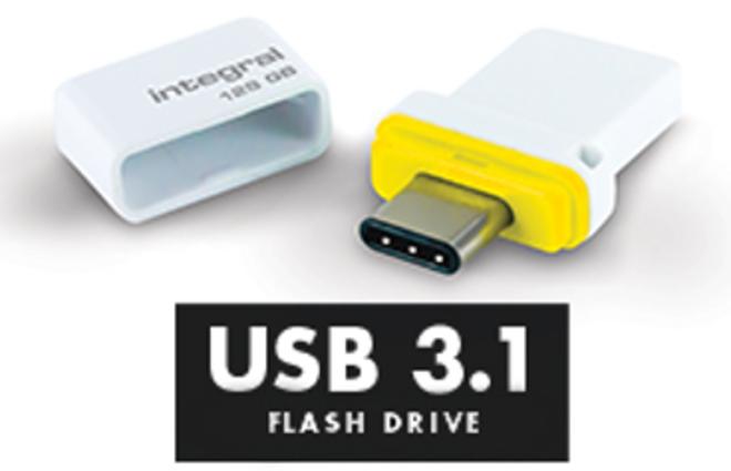 INTEGRAL cle usb-c et usb 3.1 128go.